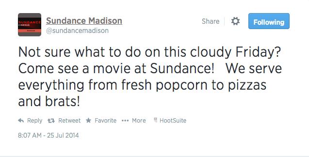 sundance twitter weather movie brats