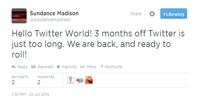 sundance hello twitter world